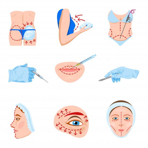 iconos cirugía estética.